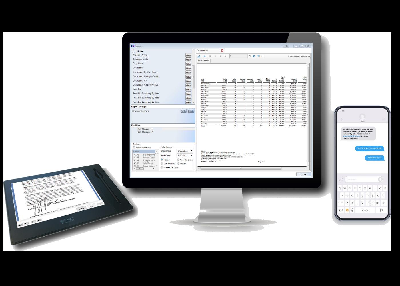 modern self storage software devices