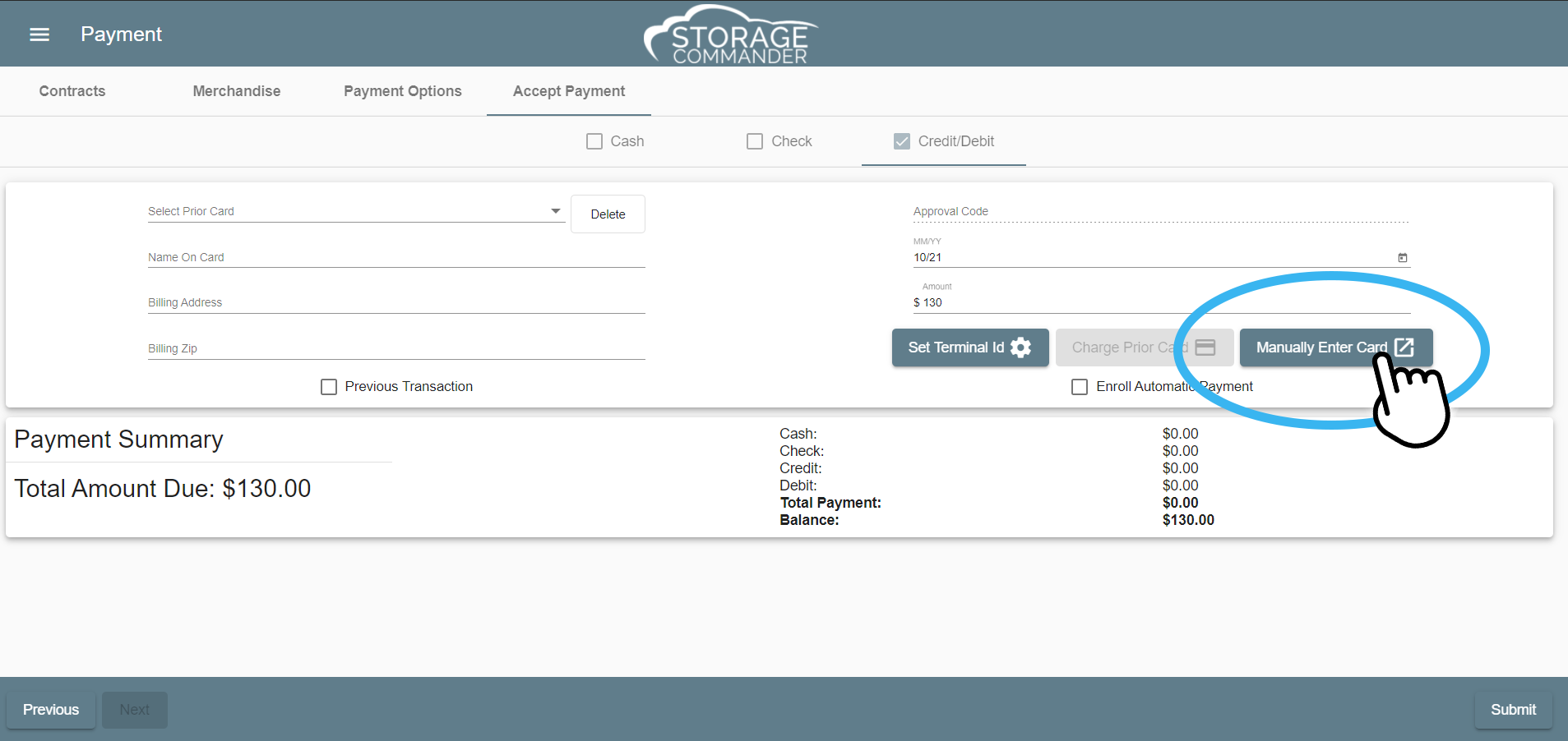 hosted payments through Storage Commander Online Self Storage Software